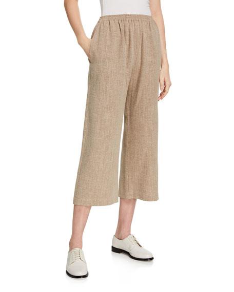 Eskandar Cropped Linen Trousers
