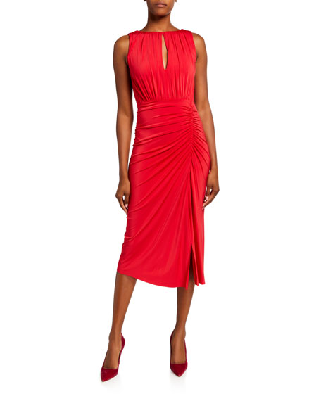 Jason Wu Collection Ruched-Jersey Sleeveless Day Dress