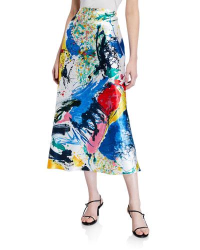 Aaliya Womens Polyester Crepe Mini Casual Skirt