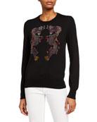 Libertine Magical Ming Dragon Crewneck Cashmere Sweater