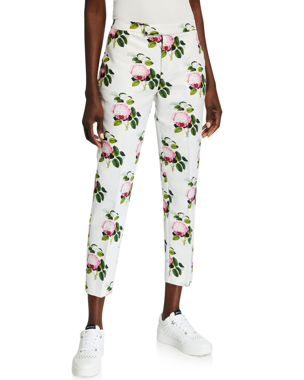 English Garden Cotton-Linen Crop Pants