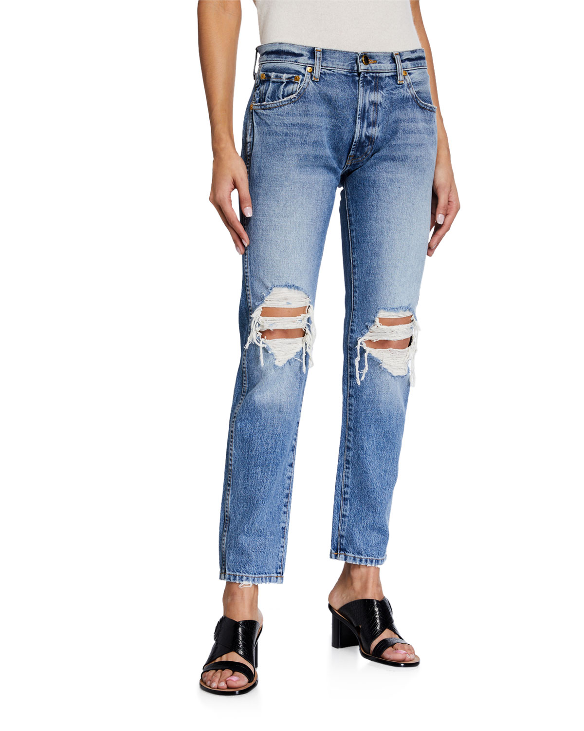 Kyle Relaxed Low-Rise Jeans