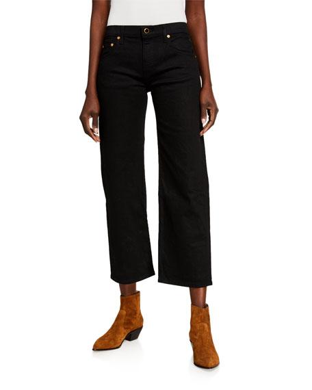 Khaite Wendell Cropped Wide-Leg Jeans