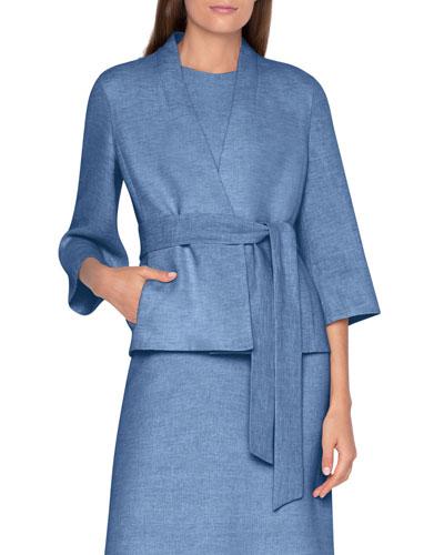 Linen Wrapped Kimono Jacket
