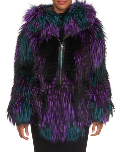 Shaggy Fox Fur Parka