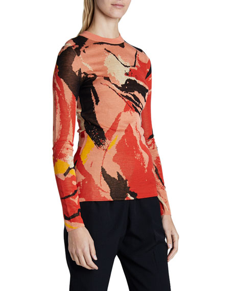 Proenza Schouler Jacquard Long-Sleeve Sweater