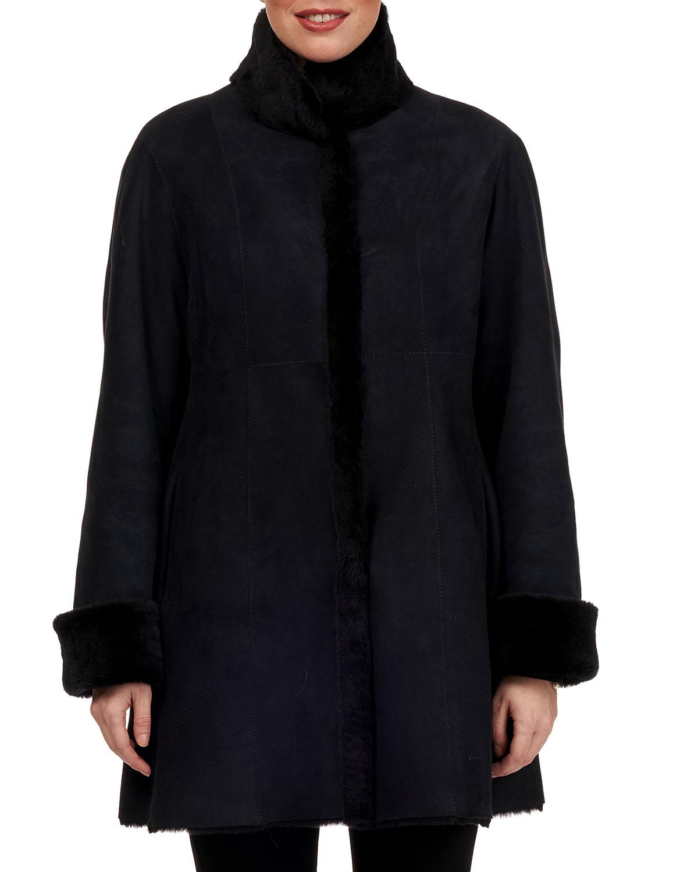 Reversible Lamb Shearling Stroller Coat