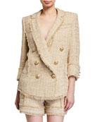 Balmain Tweed Pajama Blazer Jacket