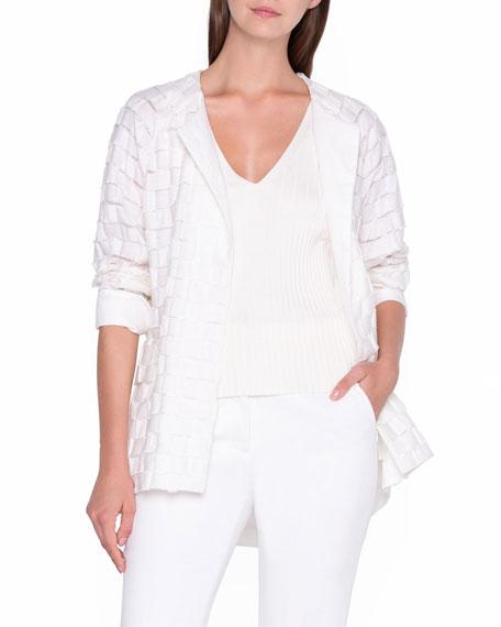 Akris Basketweave Cocoon Jacket