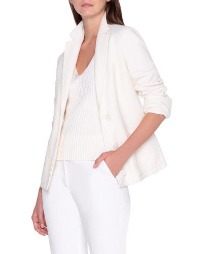 Textured Pique Knit Jacket