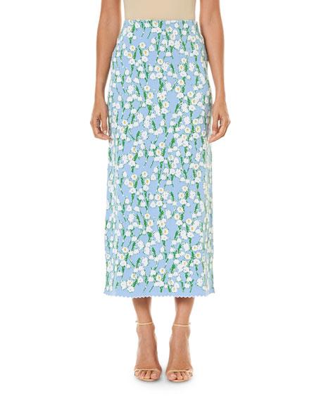 Carolina Herrera Jacquard Ankle-Length Skirt