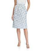 Brock Collection Quadratic Floral Midi Skirt