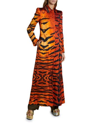 Tiger-Striped Coat
