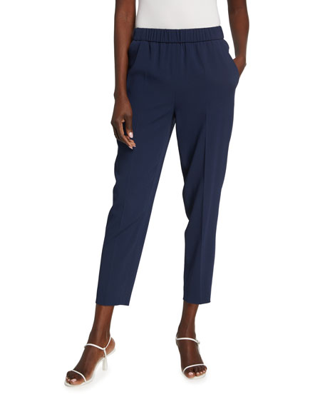 Escada Tsisanu Satin-Back Crepe Pants