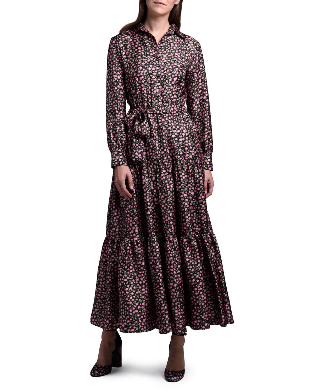 Bellini Long-Sleeve Belted Dress