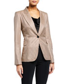 Adam Lippes Houndstooth Single-Breasted Blazer and Matching Items