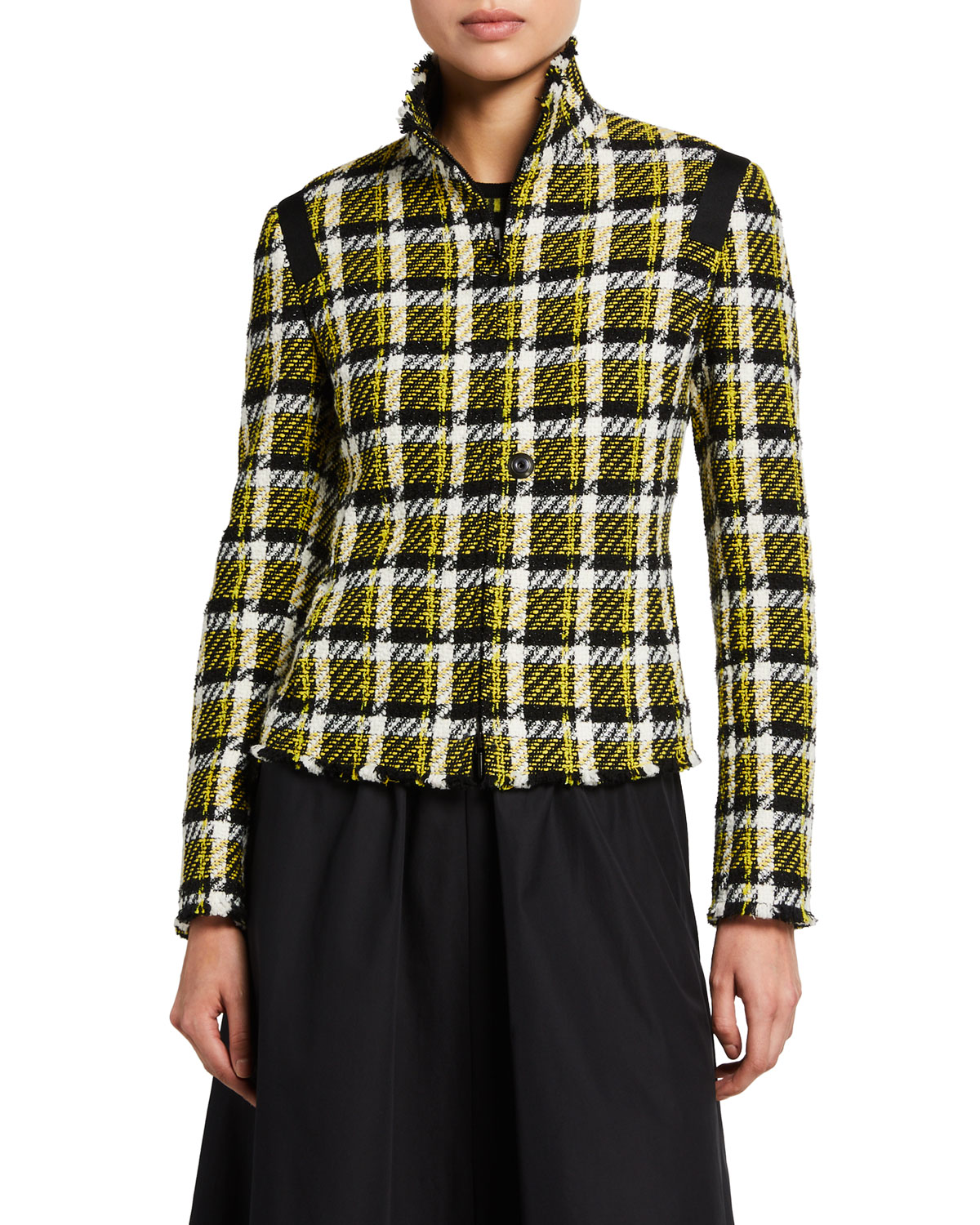 Checked Cotton-Tweed Jacket