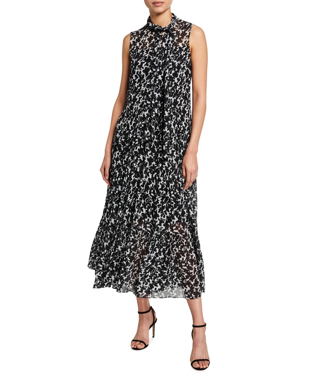 Mini Magnolia-Print Bow Dress