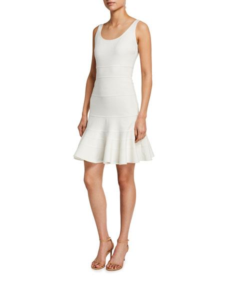 Akris punto Jersey Tiered Godet Dress