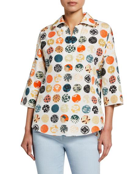 Akris punto Washed Poplin Kimono Blouse