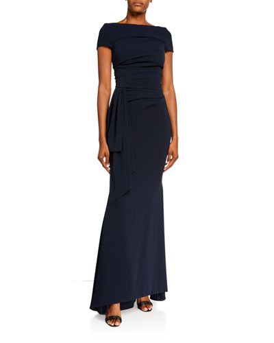 Stretch Crepe Gown
