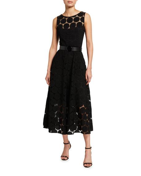 Akris punto Dotted Lace Cocktail Dress