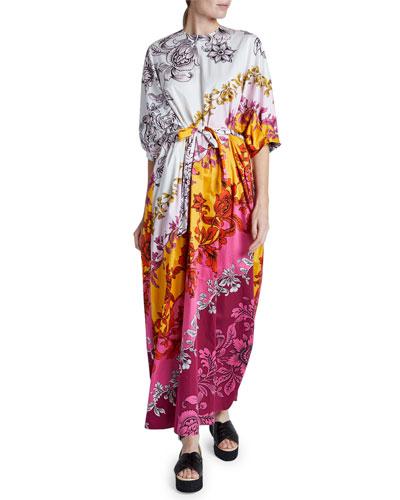 Rivera Dolman Puff-Sleeve Dress