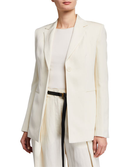 THE ROW Kiro Silk-Linen Blazer Jacket