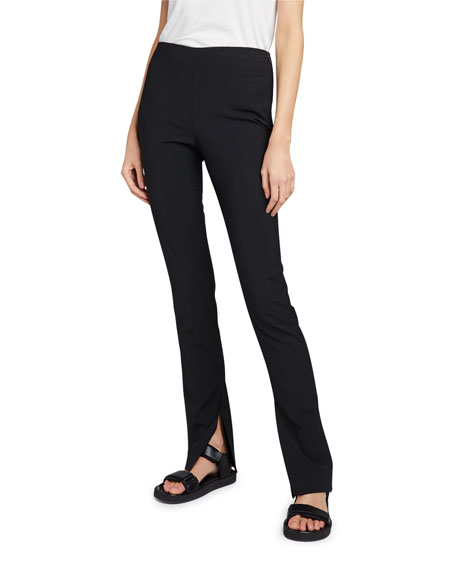 THE ROW Carlotta Jersey Slit-Leg Pants