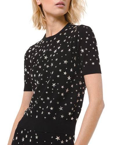 Star Embellished Crewneck Sweater
