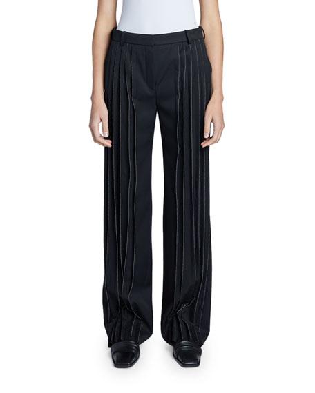 Nina Ricci Wool Straight Leg Trousers