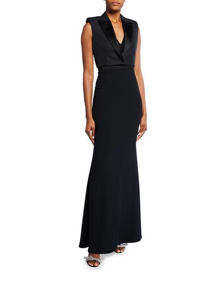 Alexander McQueen Suiting Sleeveless Gown