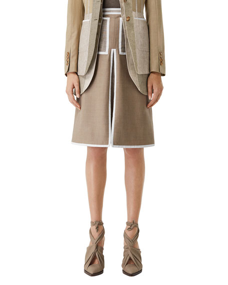 Burberry Taped A-Line Skirt