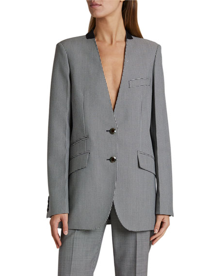 Givenchy Houndstooth Relaxed-Fit Blazer