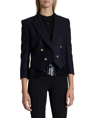Wool Bracelet-Sleeve Blazer
