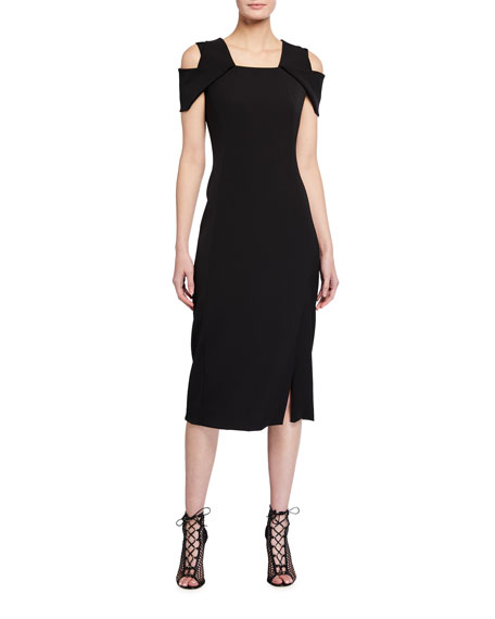 Akris Silk Cold-Shoulder Dress