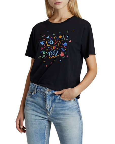Saint Laurent Love Confetti T-Shirt
