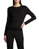Akris Cashmere-Silk Sequined Sweater