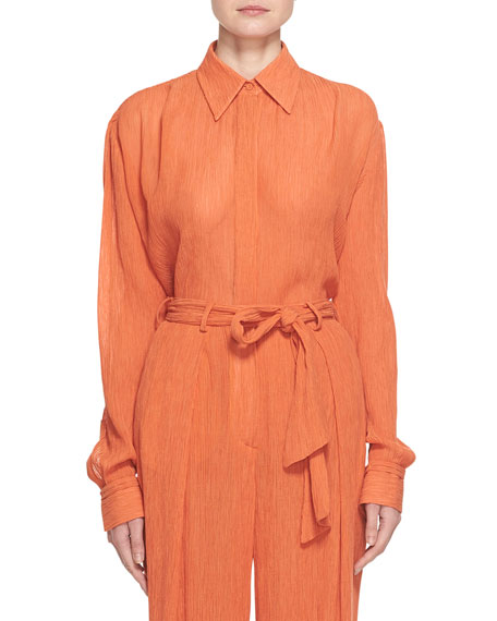 Gabriela Hearst Cruz Cotton-Silk Shirt