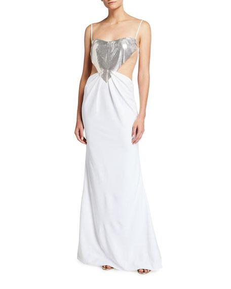 CDGNY Elsie Midriff Cutout Gown