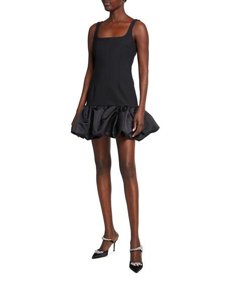 Area Bubble-Hem Sleeveless Mini Dress