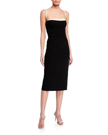Haney Meg Bustier-Lined Midi Dress