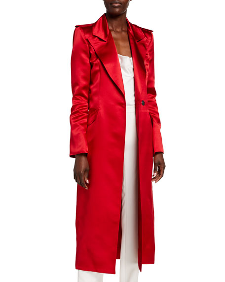 Haney Laura Satin Trench Coat