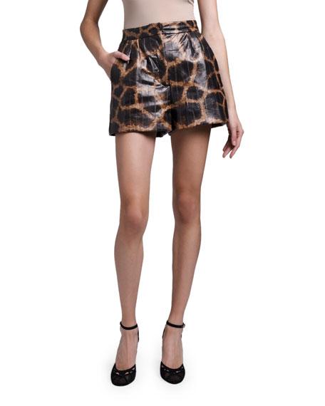 Dolce & Gabbana Giraffe Print Shorts