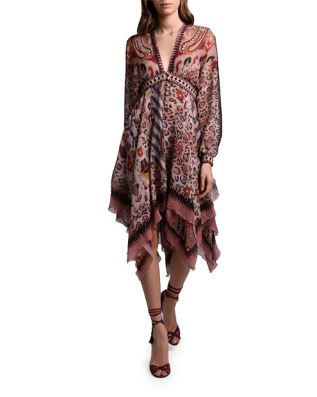 Etro Leopard-Print  Dress