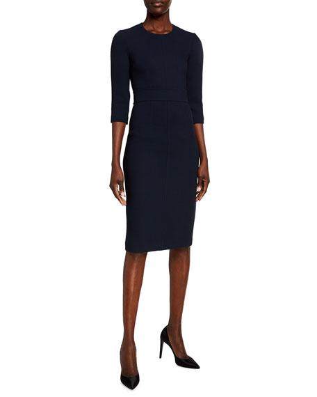 Michael Kors Collection 3/4-Sleeve Crepe Sheath Dress