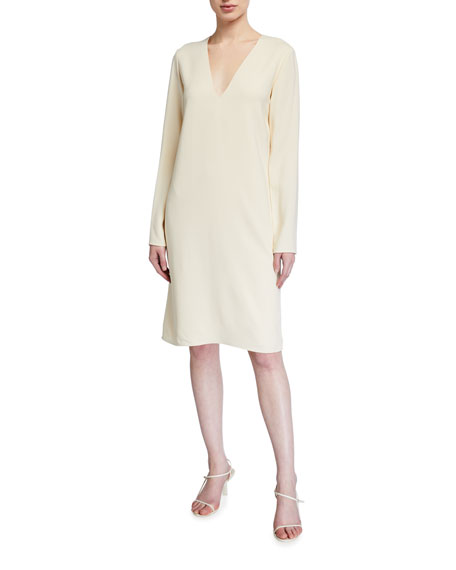 THE ROW Tavel Long-Sleeve Georgette Dress