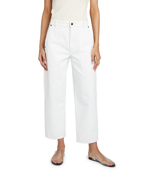 THE ROW Hester Straight-Leg Crop Jeans