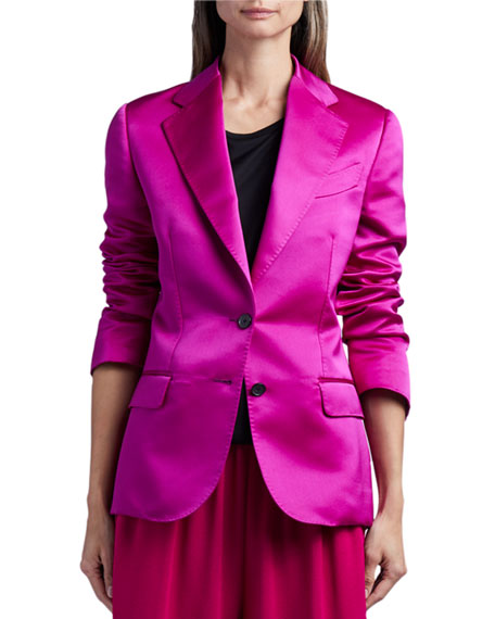 TOM FORD Duchess Satin Blazer Jacket