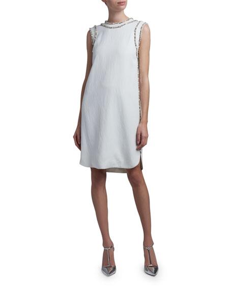 Ermanno Scervino Crystal-Seamed Sheath Dress